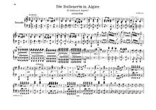 L'italiana in Algeri (The Italian Girl in Algiers): Overture, para piano para quatro mãos by Gioacchino Rossini