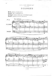Twelve Pieces-Novellas for Organ, Op.59: No.3 Eclogue by Théodore Salomé
