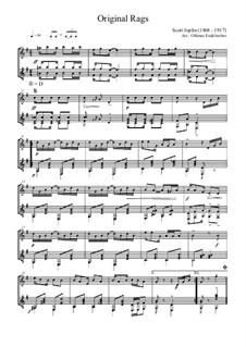 Original Rags: para flauta e guitarra by Scott Joplin