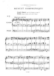 Twelve Pieces-Novellas for Organ, Op.59: No.7 Menuet symphonique by Théodore Salomé