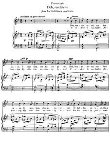 La Stellidaura vendicata. Deh, rendetemi: Piano-vocal score (G minor) by Francesco Provenzale