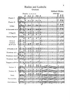 Overture: partitura completa by Mikhail Glinka