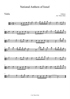 Hatikvah (With Hope): para viola by folklore