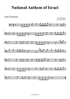 Hatikvah (With Hope): para violoncelo by folklore