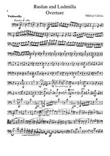Overture: parte violoncelo by Mikhail Glinka