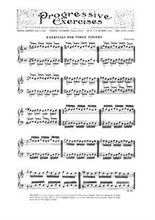 Exercises for Three Fingers: Exercises for Three Fingers by Leopold Godowsky