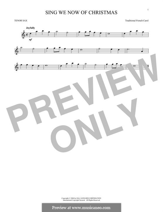 Sing We Now of Christmas (from Morning Star): para saxofone tenor by folklore