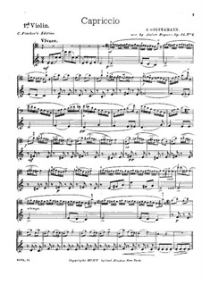 Capriccio, Op.24: For cello and strings – violin I part by Georg Goltermann