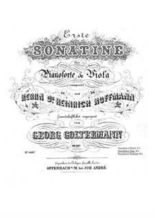 Sonatina for Viola and Piano No.1, Op.36: Score for two performers, Parte de solo by Georg Goltermann