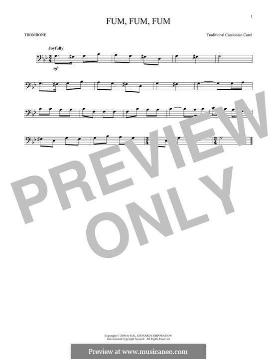 Fum, Fum, Fum: para trombone by folklore