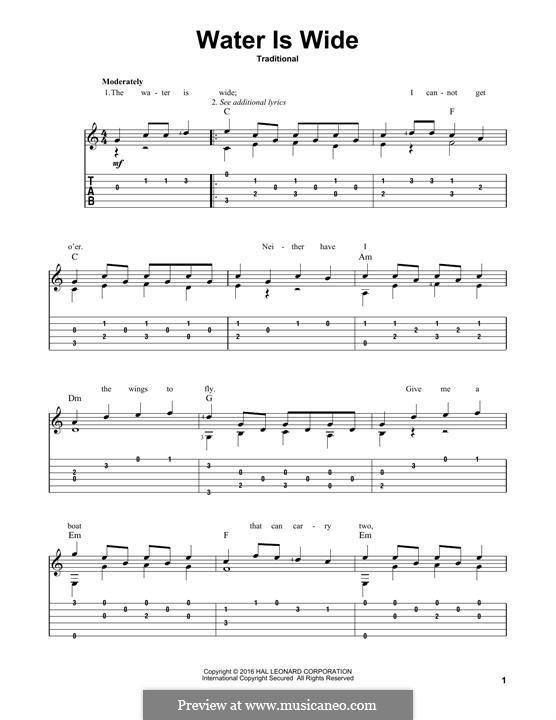 The Water is Wide: Para Guitarra by folklore