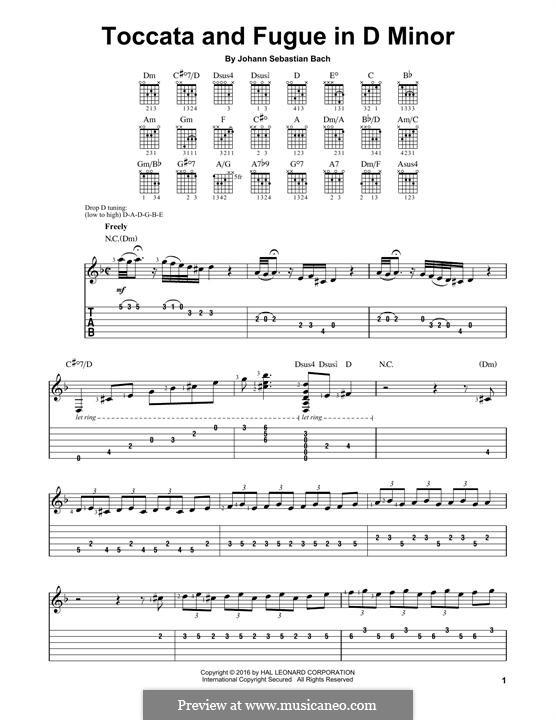 Toccata and Fugue in D Minor, BWV 565: Para Guitarra by Johann Sebastian Bach