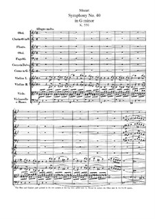 Complete Movements: Partitura completa by Wolfgang Amadeus Mozart