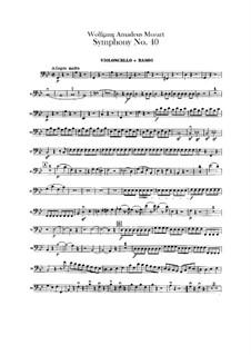Complete Movements: parte violoncelo e contrabaixo by Wolfgang Amadeus Mozart