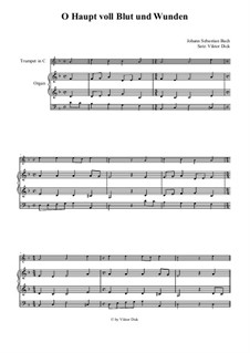 O Sacred Head Now Wounded: Para trompete em C e órgão by Hans Leo Hassler