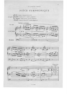 Twelve Pieces-Novellas for Organ, Op.59: No.10 Pièce symphonique by Théodore Salomé