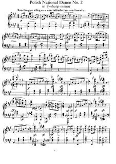 Polish National Dances, Op.3: eletronica No 2 by Xaver Scharwenka