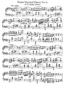 Polish National Dances, Op.3: Dance No.6 by Xaver Scharwenka
