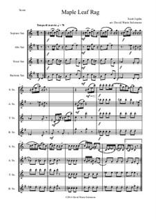 Maple Leaf Rag: para quarteto de saxofone by Scott Joplin