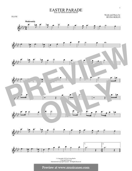 Easter Parade: para flauta by Irving Berlin