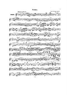 Piano Trio in G Minor, Op.17: parte do violino by Clara Schumann