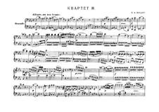 String Quartet No.16 in E Flat Major, K.428: arranjos para piano de quatro mãos by Wolfgang Amadeus Mozart