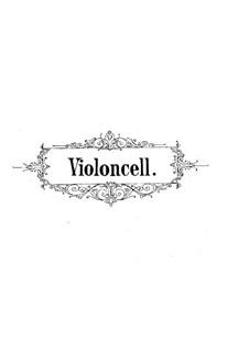Sonata for Violin and Piano No.2 in D Minor, Op.121: Versão para violoncelo e piano - parte de violoncelo by Robert Schumann