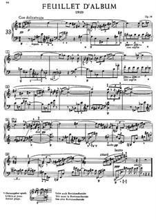 Feuillet d'album (Album Leaf), Op.58: Para Piano by Alexander Scriabin