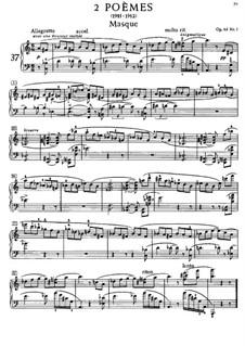 Two Poems, Op.63: set completo by Alexander Scriabin