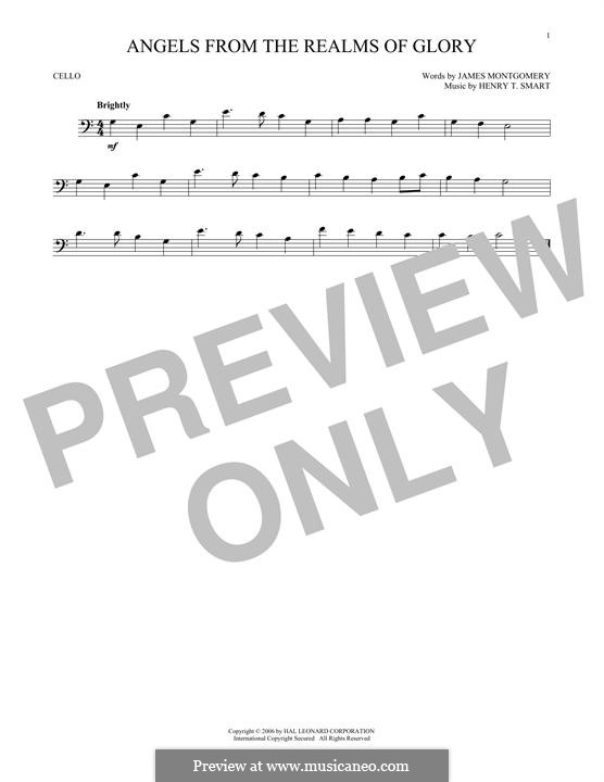 Angels, from the Realms of Glory: para violoncelo by Henry Smart