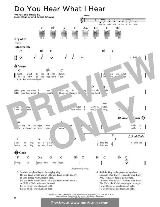 Do You Hear What I Hear: Para guitarra com guia by Gloria Shayne, Noël Regney