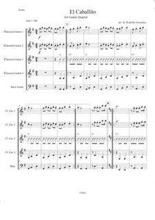 El Caballito: For guitar quartet by folklore