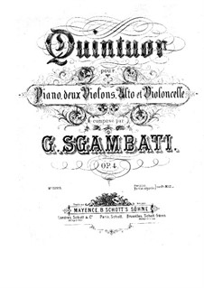 Piano Quintet No.1 in F Minor, Op.4: parte violinos by Giovanni Sgambati