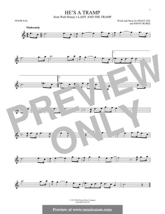 He's a Tramp: para saxofone tenor by Sonny Burke