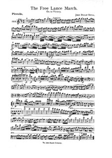 The Free Lance: partes by John Philip Sousa