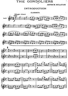 The Gondoliers: parte clarinetes by Arthur Seymour Sullivan