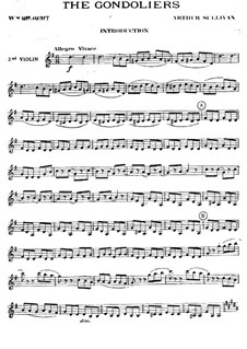 The Gondoliers: violinos parte II by Arthur Seymour Sullivan
