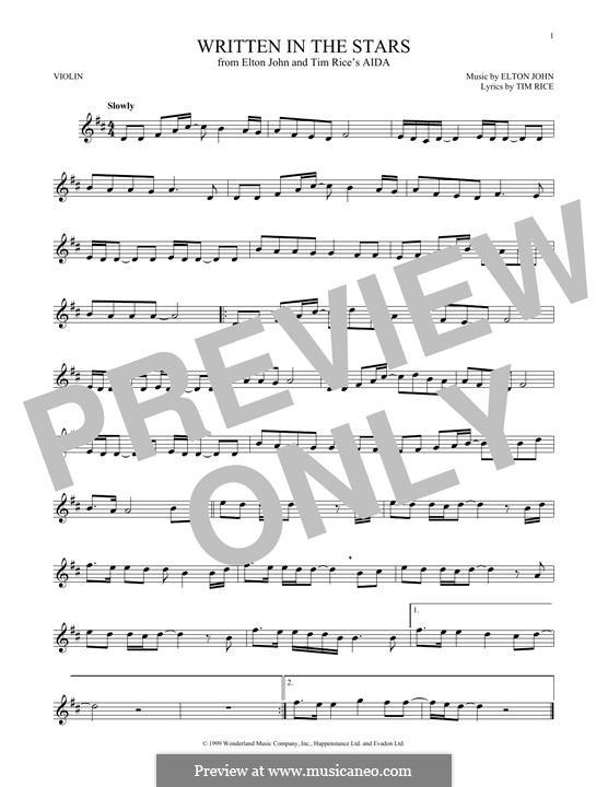 Written in the Stars: para violino by Elton John