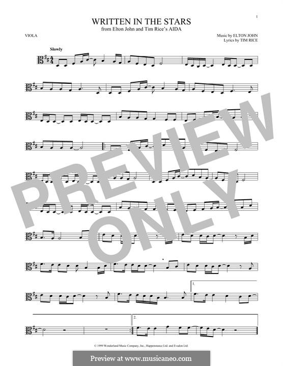 Written in the Stars: para viola by Elton John