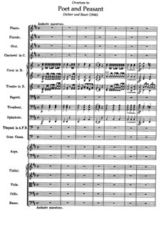 Overture to 'Poet and Peasant': partitura by Franz von Suppé
