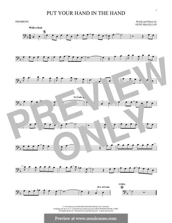 Put Your Hand in the Hand (Ocean): para trombone by Gene MacLellan