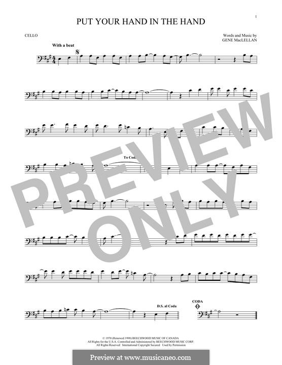 Put Your Hand in the Hand (Ocean): para violoncelo by Gene MacLellan