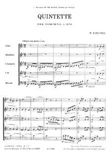 Woodwind Quintet in G Minor: partitura completa by Paul Taffanel