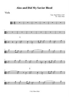 Alas, and Did My Savior Bleed: para viola by Hugh Wilson