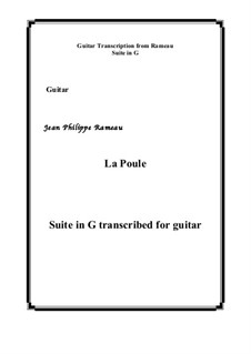 Suite in G Major: La Poule, for guitar by Jean-Philippe Rameau