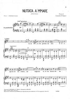 Nuttata a 'mmare: Para vocais e piano by Eduardo di Capua