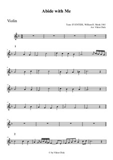 Abide with Me: para violino by William Henry Monk