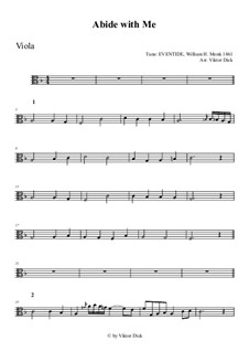 Abide with Me: para viola by William Henry Monk