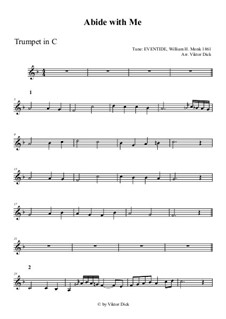 Abide with Me: For trumpet in C by William Henry Monk