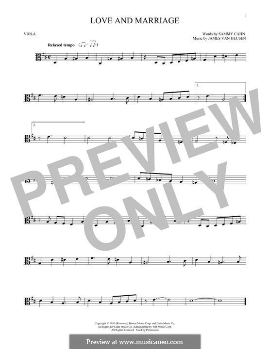 Love and Marriage (Frank Sinatra): para viola by Jimmy Van Heusen